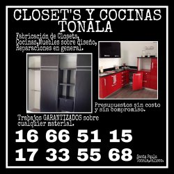 Closets y cocinas tonala guadalajara ciudad anuncios for Closets en guadalajara precios