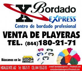cf86bd607d132 Playeras bordadas con tu logo en todo saltillo en bordado express tel  8441802171 - Saltillo - Ciudad Anuncios
