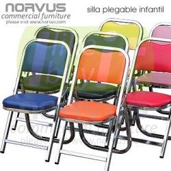 Tapizadas Plegables Acojinadas Colores Sillas En Infantiles n8PX0wOk
