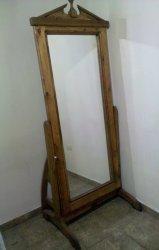 Espejo de madera rustico con base luna de cuerpo completo for Espejos de cuerpo completo