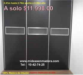 Fabrica de closets en el df muebles e ideas en madera for Closets df precios
