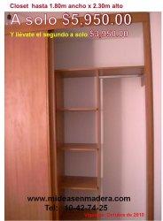 Closets economicos desde 5 950 00 muebles e ideas en for Closets df precios
